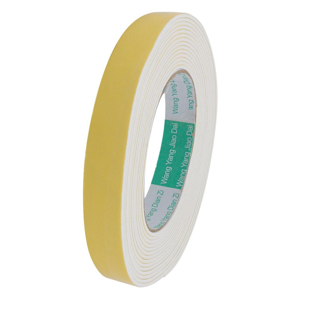 Unique Bargains 20mm Width 2mm Thickness Single-side Sealed Sponge Tape White 16.4ft Length