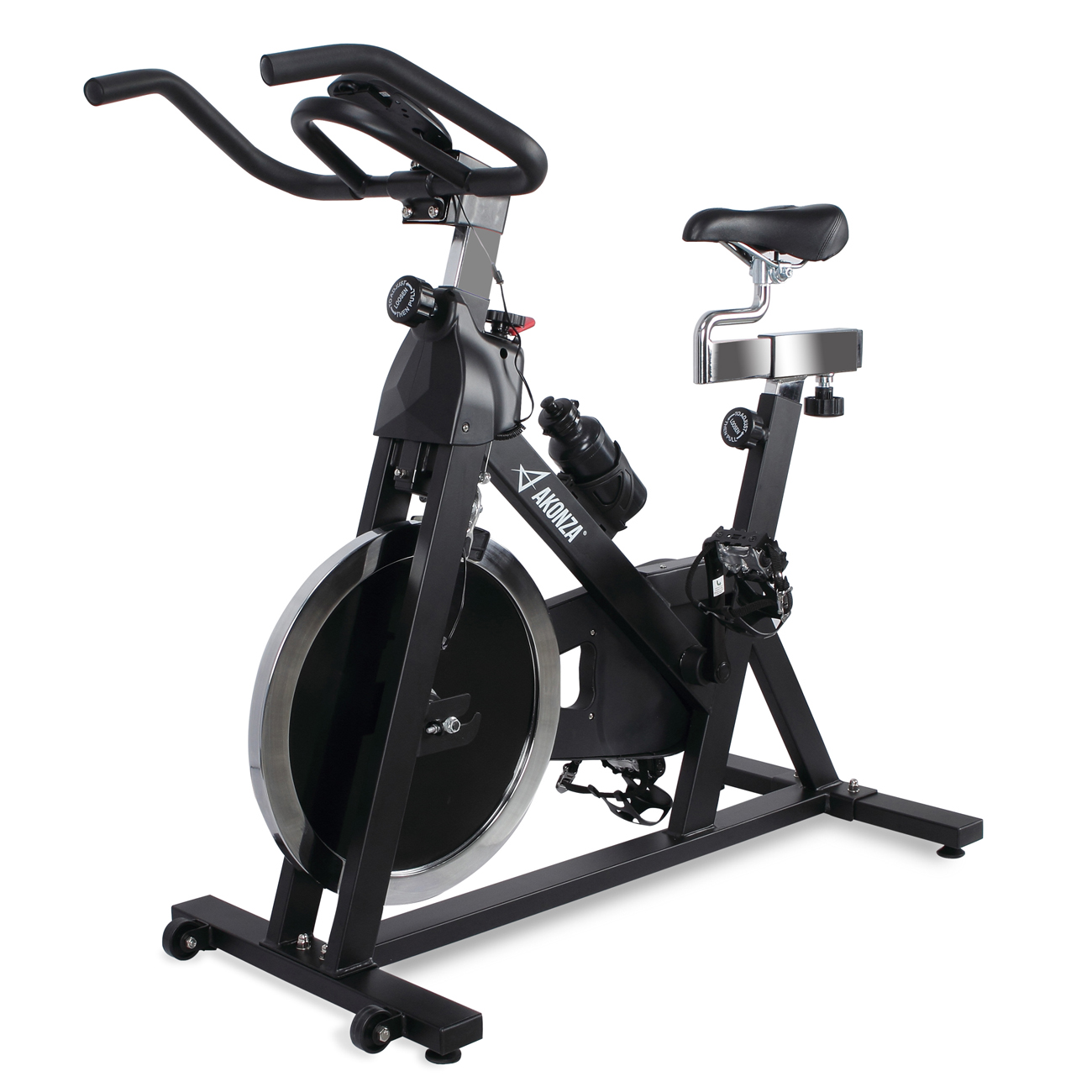 AKONZA Exercise Bike Health Fitness Indoor Cycling Bicycle Cardio Workout w/ 40lb Flywheel & LCD Display