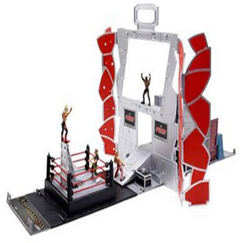 JAKKS WWE Micro Aggression Backstage Playset with Figures
