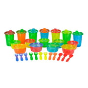 The First Years Take & Toss Bowl, Sippy Cup and Silverware Set Variety Pack, 28 Pieces