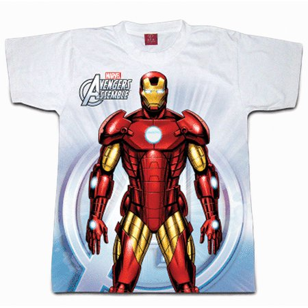 Digital Dudz White Ironman Chest Reactor Shirt Adult Costume