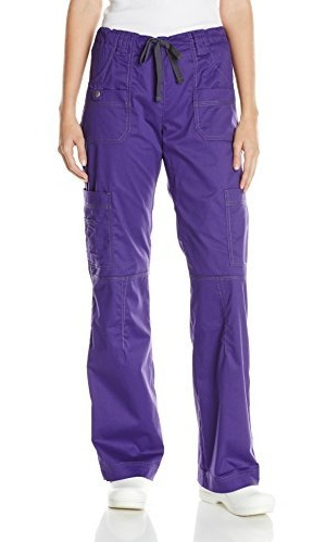 Dickies Scrubs Womens Gen Flex Junior Fit Contrast Stitch Cargo Pant Size 2X-5X