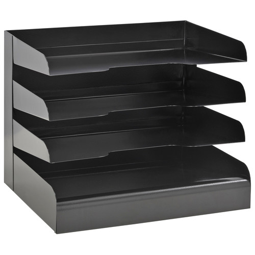 "9-1/2"" Horizontal Organizer, Black ,Buddy Products, 0404-4"