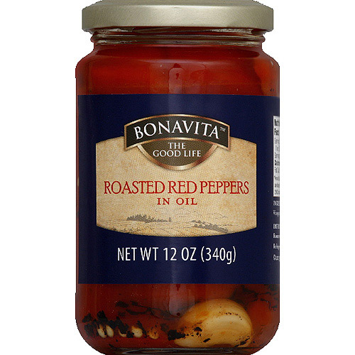 Bonavita Roasted Red Peppers in Oil, 12 oz, (Pack of 6)