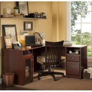 "Bush Furniture Cabot Collection 60"" L-Desk, Harvest Cherry"