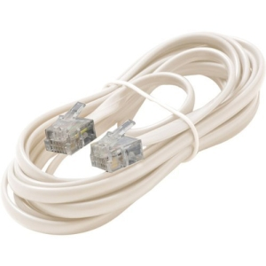 7FT 6-WIRE TELE LINE CORD WHT PREMIUM RETAIL BLISTER PACK