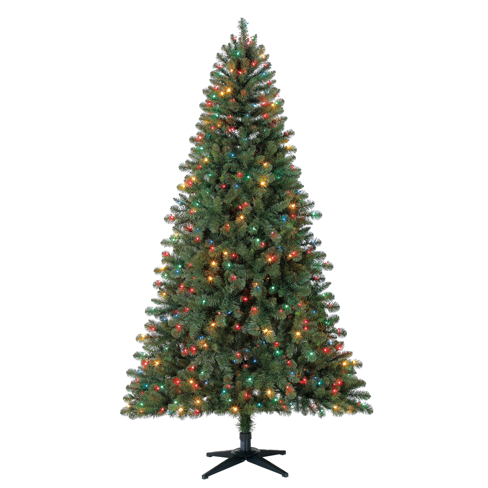 Holiday Time 7ft Pre-Lit Duncan Fir Artificial Christmas Tree with 450 Multicolored Lights