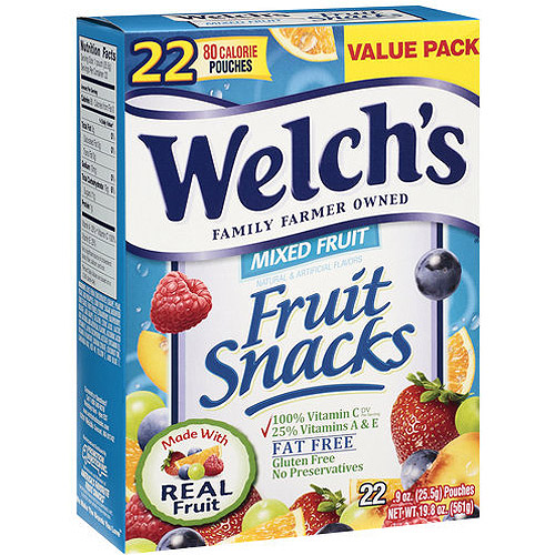 Welch's Mixed Fruit Fat Free Fruit Snacks, .9 oz, 22ct