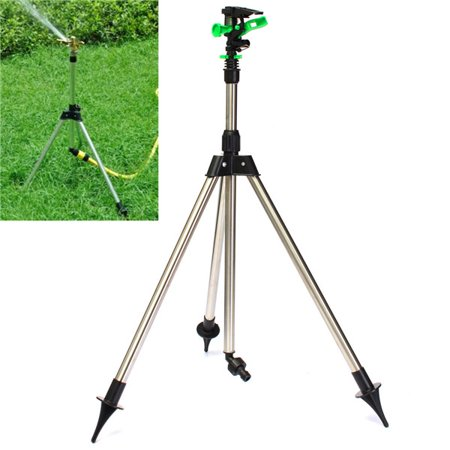 Adjustable Tripod Impulse Sprinkler Base Pulsating Telescopic Watering Lawn Yard and Garden 1/2