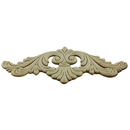 """Birch Wood Wide Splash Applique - 9 3/4"""" x 4"""" - Onlays and Appliques for Furniture - G10-3316"""