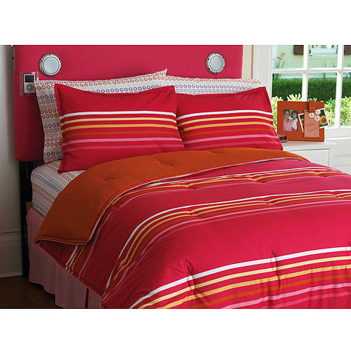 Your Zone Multi Stripe Reversible Comforter Set
