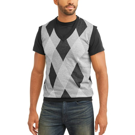 Sahara Club Men's Argyle Sweater vest (Argyle Pattern Sweater)