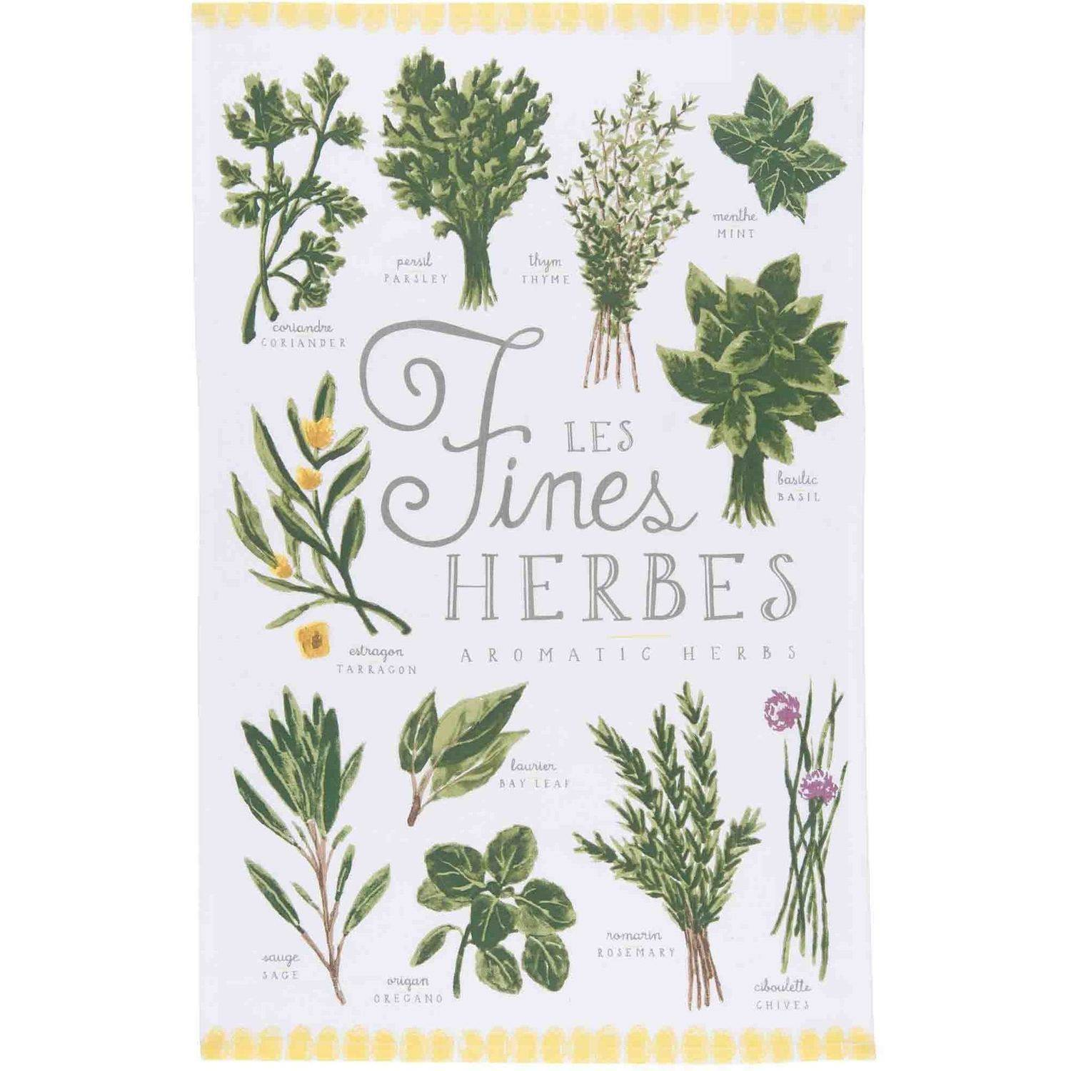 Now Designs Les Fines Herbes Dishtowel