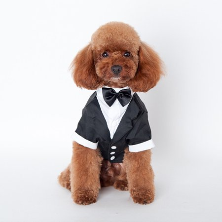 Weefy S-XXL Pet Dog Cat Wedding Party Bow Tie Suit Tuxedo Suit