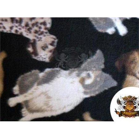 Fleece Printed Fabric ANIMALS DOGS / 58