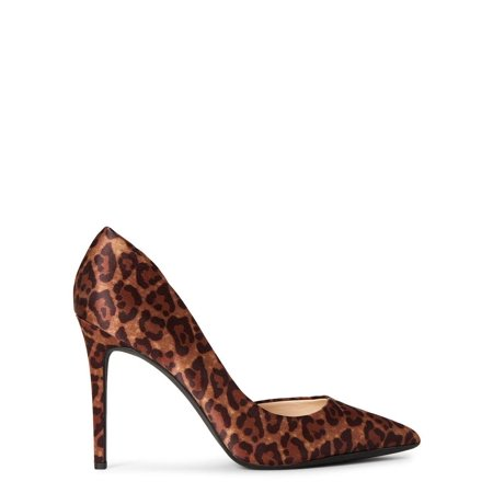 Jessica Simpson prizma Natural Nude Pointed Toe D'orsay Dress Pumps Leopard