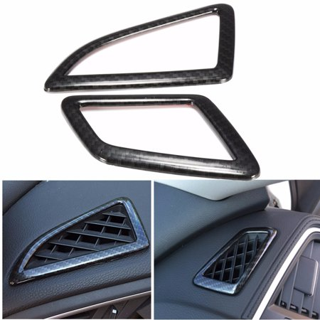 Carbon Fiber Hood Vents - 2x Carbon Fiber Style Air Vent Cover Trim For Honda Civic 10th Sedan 2016 2017