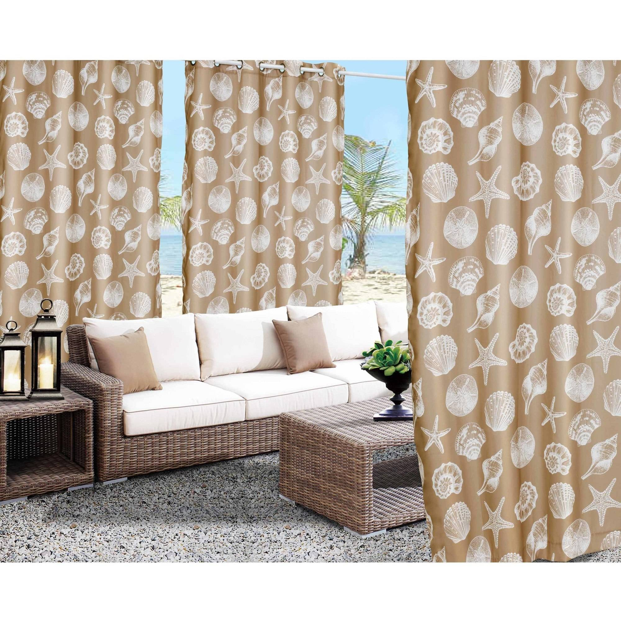 Seashell Indoor/Outdoor Grommet Panel