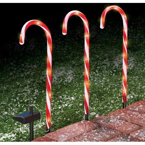 Outdoor Candy Cane Lights Christmas lights 20 inch large lighted candy canes lawn stakes 3 christmas lights 20 inch large lighted candy canes lawn stakes 3 pack walmart workwithnaturefo