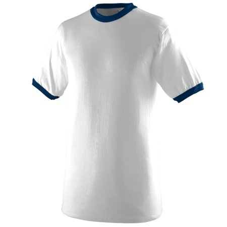 711 Ringer Tee By Augusta Sportswear Pick Color/Size White/Navy Small ()