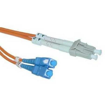 Offex OF-LCSC-11102 Fiber Optic Cable, LC/SC, Multimode, Duplex, 62.5/125, 2 Meter (6.6-Feet) 125um Duplex Multimode 2 Meters