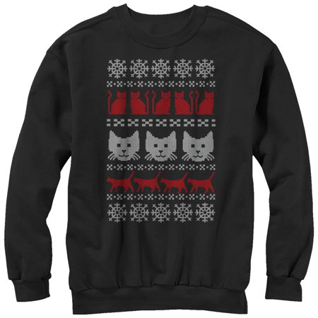 1441c8c7fdae98 Lost Gods - Men's Cat Ugly Christmas Sweater Sweatshirt - Walmart.com