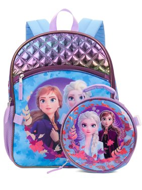 Frozen 2 Elsa And Anna Backpack With Lunch Bag