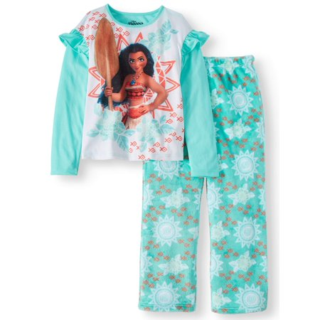 Moana Girls' Poly 2-Piece Pajama Sleep Set
