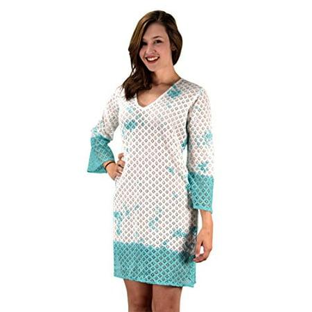 795b7ba177 Peach Couture 100% Cotton Womens Crochet Lace Tunics Summer Cover Ups Beach  Wear - image ...
