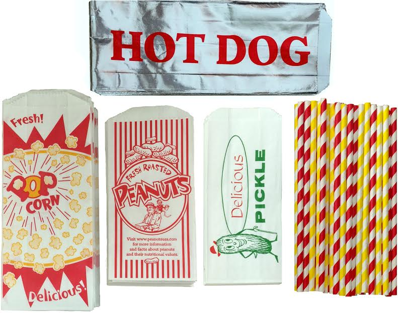 Ultimate Carnival Pack with Popcorn, Peanut, Pickle, Hot Dog Bag by