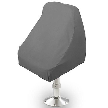Vinyl Boat Seat Cover (Boat Seat Cover Helm / Helmsman / Bucket Single Seat Storage Cover - 21