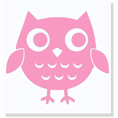 Owl Wall Decal Girls Vinyl Art Wall Stickers Bedroom Wall Decor, 12x12-Inch Soft Pink Pink Bedroom Decor