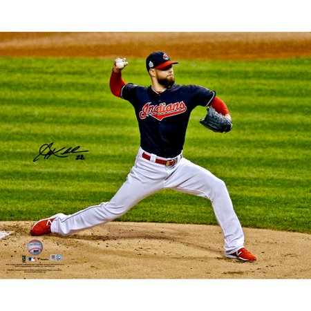 Corey Kluber Cleveland Indians Autographed 16   X 20   Pitching Side View Photograph
