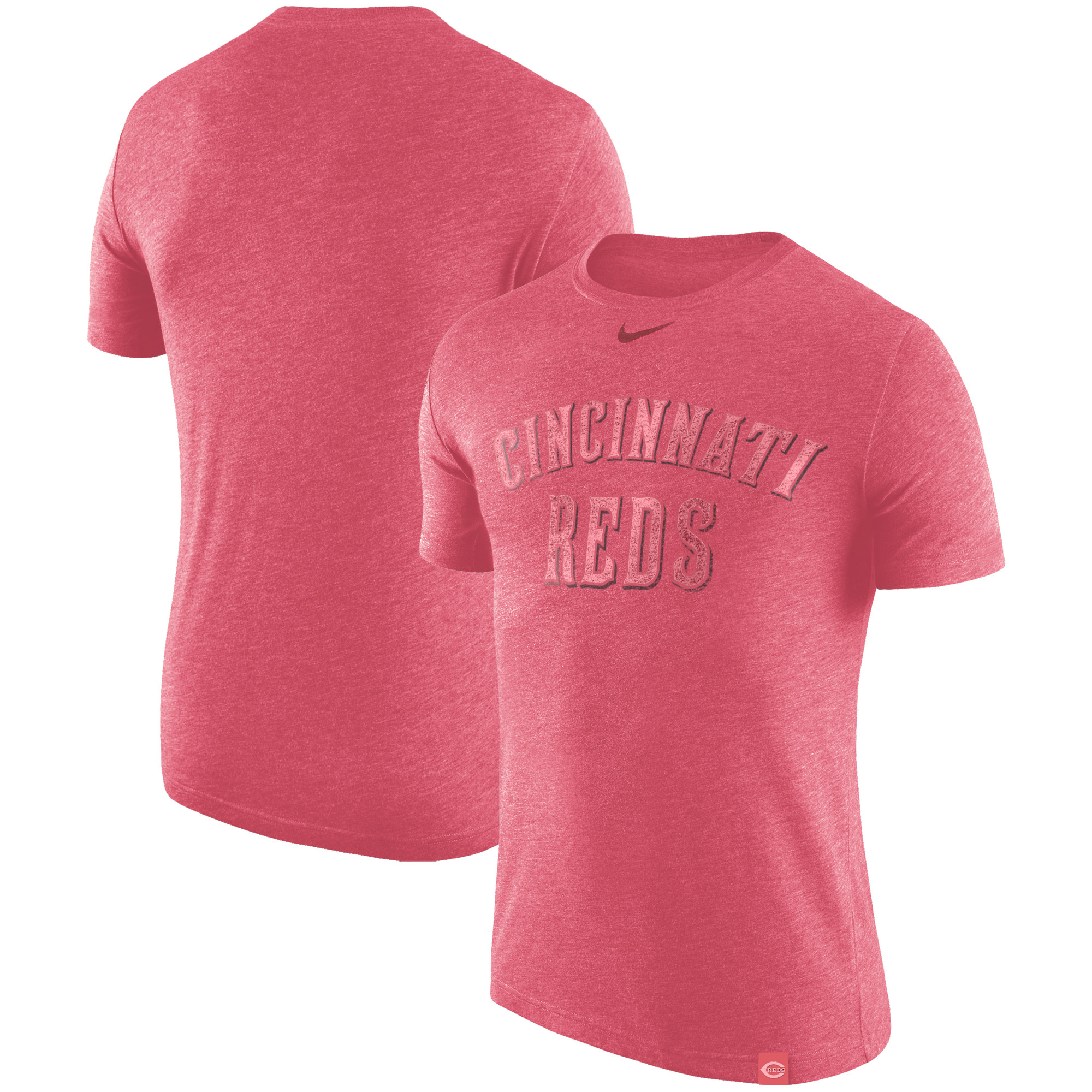 Cincinnati Reds Nike Tri-Blend DNA Performance T-Shirt - Heathered Red