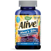 Multivitamins: Alive! Men's 50+ Gummy Vitamin