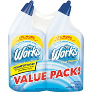 The Works Disinfectant Toilet Bowl Cleaner, 32 fl oz, (Pack of 2)