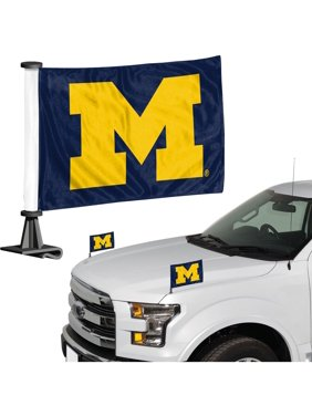 "Michigan Wolverines Ambassador 4"" x 6"" Car Flag Set of 2"