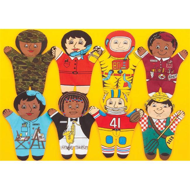 Dexter Educational Toys DEX840W Career 8 Piece Puppet Set - Caucasian