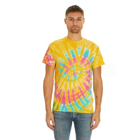 Tie Dye Style T-Shirts for Men and Women - Multi Color Tops by Krazy Tees