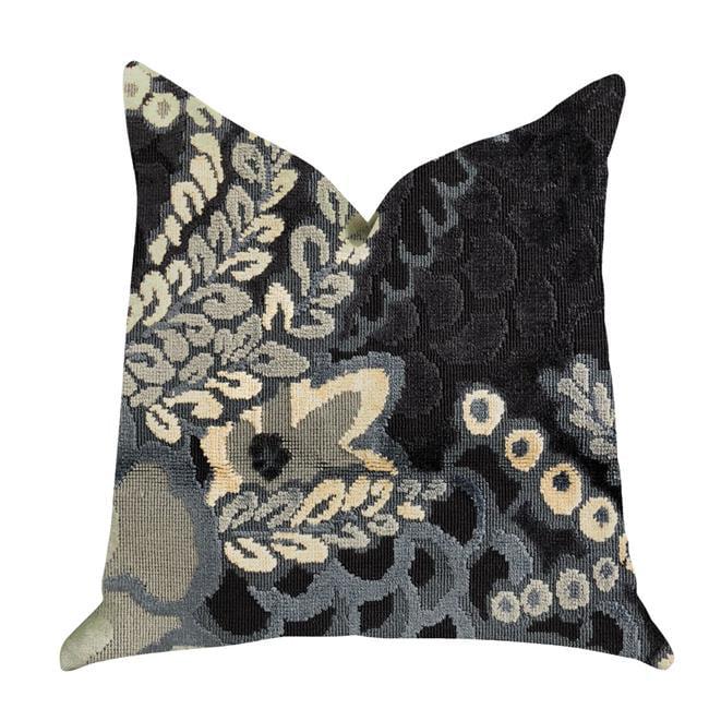 Plutus PBRA1394-2036-DP Leilani Fleurs Luxury Throw Pillow in Blue & Beige Tones, 20 x 36 in. King - image 3 de 3