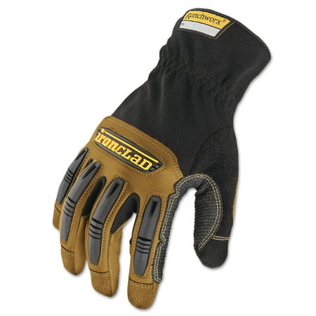 Ranchworx Leather Gloves, Black/Tan, X-Large