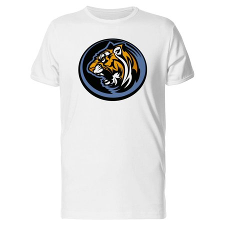 Growling Tiger Mascot Cartoon Tee Men's -Image by