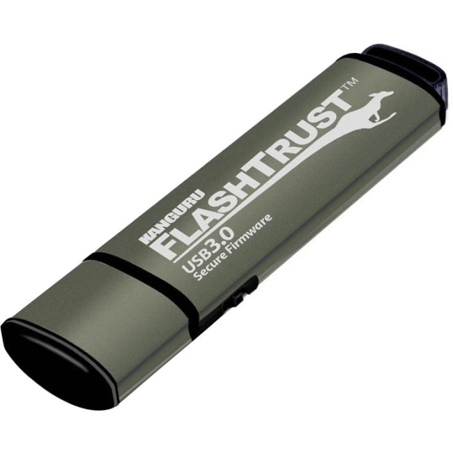 Kanguru 128GB FlashTrust USB 3.0 Flash Drive with Firmware
