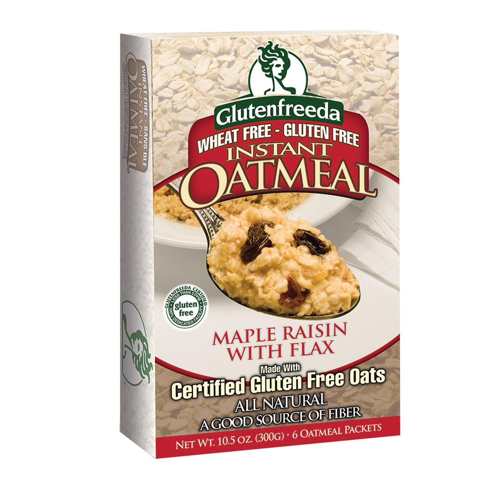 Gluten Freeda Instant Oatmeal - Maple Raisin - Pack of 8 - 11.05 Oz.