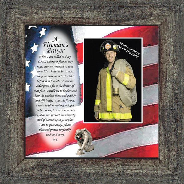 A Fireman S Prayer In Appreciation Of A Firefighter Framed Picture Frame 10x10 6795 Walmart Com Walmart Com