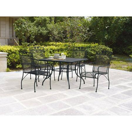 mainstays jefferson 5 piece patio dining set seats 4
