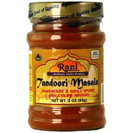 Rani Tandoori Masala (Natural, No Colors Added) Indian 11-Spice Blend 3oz (85g) ~ Salt Free   Vegan   Gluten Free Ingredients   NON-GMO 3oz (85g) ~ PET