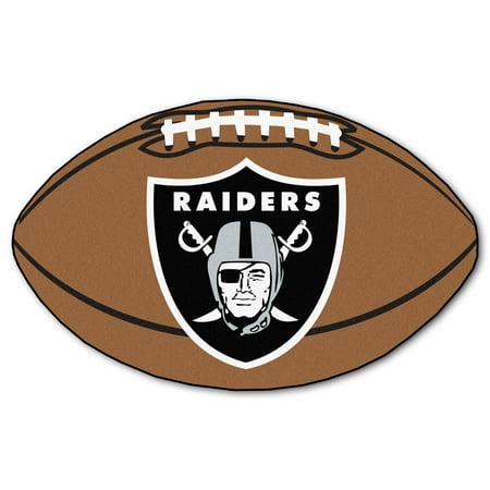 Fan Mats Oakland Raiders Football Mat