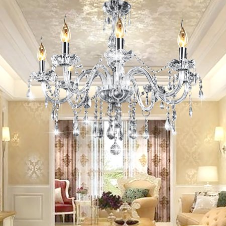 Modern Crystal 8 Heads Chandelier Ceiling pendantlight Light Lamp Pendant Fixture Lighting