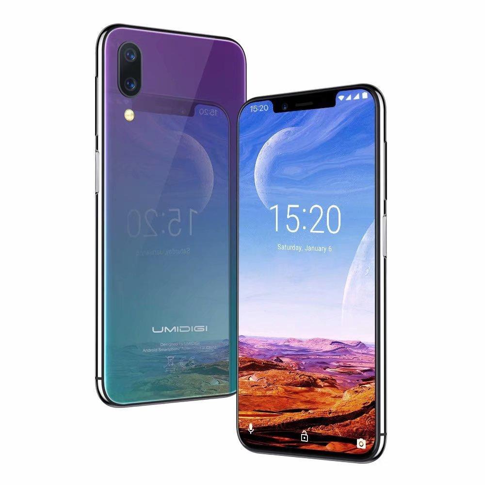 No Contract Unlocked Cell Phones ,UMIDIGI One Pro Dual 4G Face ID,Straight Talk Smartphone Wireless Charging Unlocked Smartphone Octa Core 4GB+64GB Dual Rear Camera 12MP + 5MP,Twilight